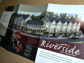Riverside Brochure housing development, 3D concept rendering of proposed site