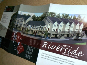 Riverside Brochure housing development, 3D concept rendering of proposed site