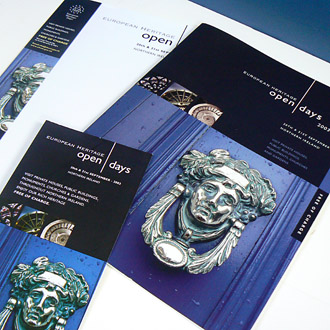 Brand and literature, Posters, billboards, Bookmarks, Letterheads, Postcards.