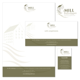 Stationery design for Ballydugan Mill, Co Down Accommodation & Dining, Co Down