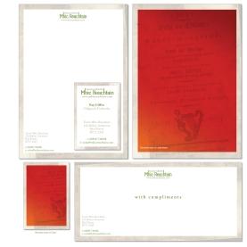 Mhic Reachtain Logo & stationery design. Co Antrim
