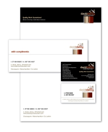 David Clancy Construction logo and Stationery, Co Leitrim