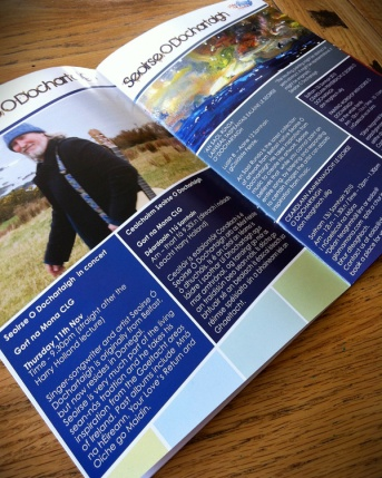Glor na mona spread 16 page Events brochure