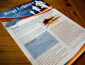 8 page full colour Newsletter